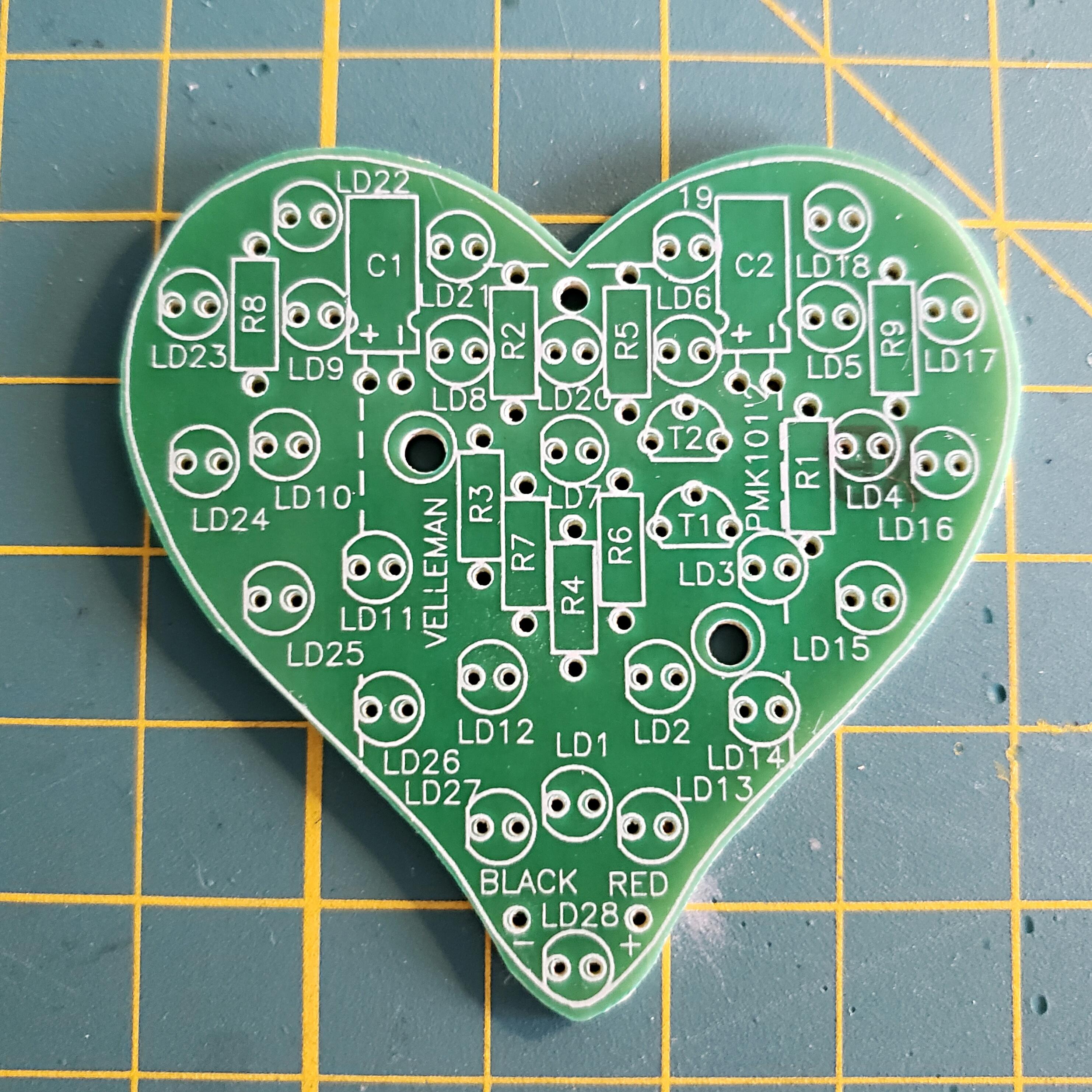 Flashing Heart Circuit Diagram