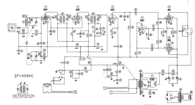 admrial 7cs5w schematic courtesy of the radiomuseum org