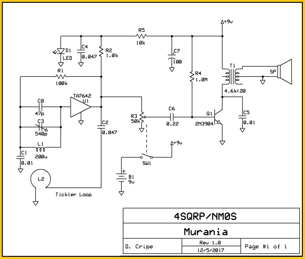 Society Rf Power Meter For Qrpers Electronic Circuit Schematic